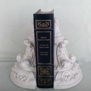 Other - Ornate Creamy White Bookends Rhinestones